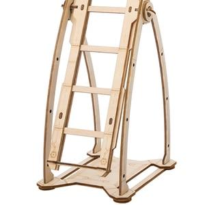Image 5 - Hot Diy Robotime Handwerk Holz Schaukel Junge Assemle Holz Handwerk Kits Wohnkultur Modell Dekoration Zubehör Geschenke Für Kind