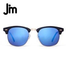 JM Retro Medio Marco Semi-Sin Montura Gradiente Lente gafas de Sol de Las Mujeres hombres UV400 Classic Oculos gafas De Gafas de Sol Unisex de La Vendimia Sol