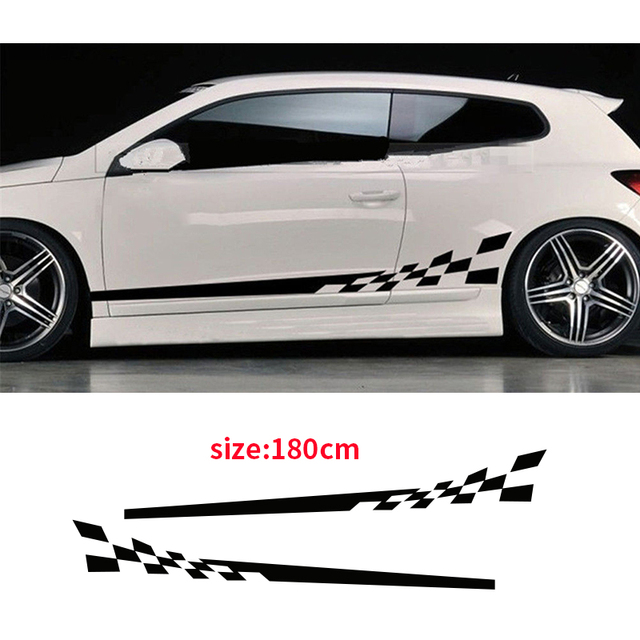 Automobile 2pcs waterproof car decal vinyl graphics side stickers body decals sticker black da 0136 car stickers