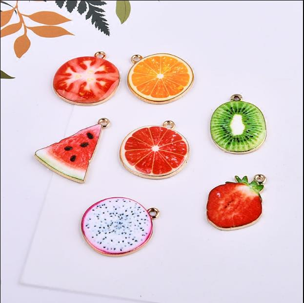 New style 50pcs/lot color round shape alloy decoration fashion charms diy jewelry earrings/necklace pendant accessory