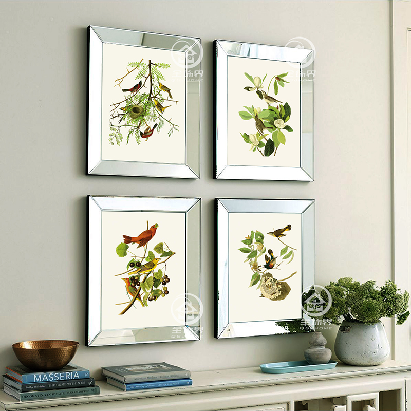 Fashion wall mirrored frames modern combination photo ...