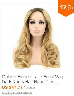 Golden Blonde Lace Front Wig 2