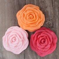 Nicole H0194 Silicone Khuôn Xà Phòng 3-Cavity Rose Flower Hình Dạng Thủ Công Làm Bằng Tay Xà Phòng Làm Khuôn