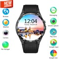 Novo 3g android 5.1 os smart watch phone mtk6580 quad core smartwatch KW88 Apoio freqüência cardíaca SIM WIFI GPS bluetooth relógios