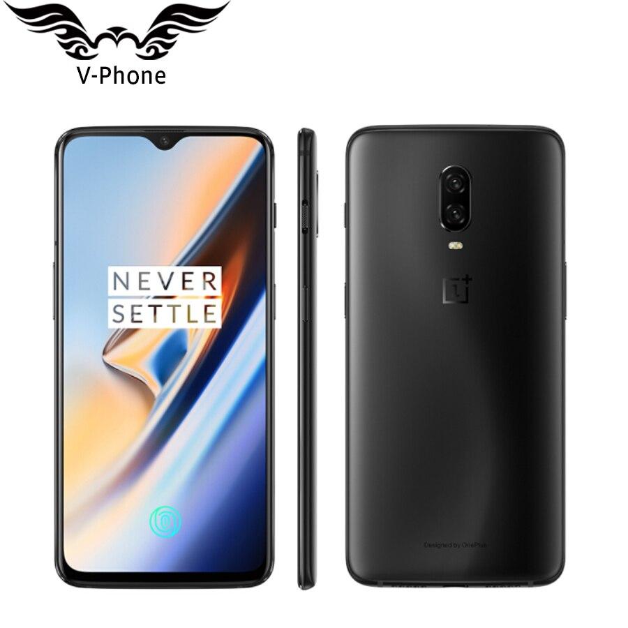 Mondiale firmwar Oneplus 6 T Mobile Téléphone 256 GB ROM 8 GB RAM Snapdragon 845 Octa base 6.41 Double caméra Écran Déverrouiller NFC Étanche