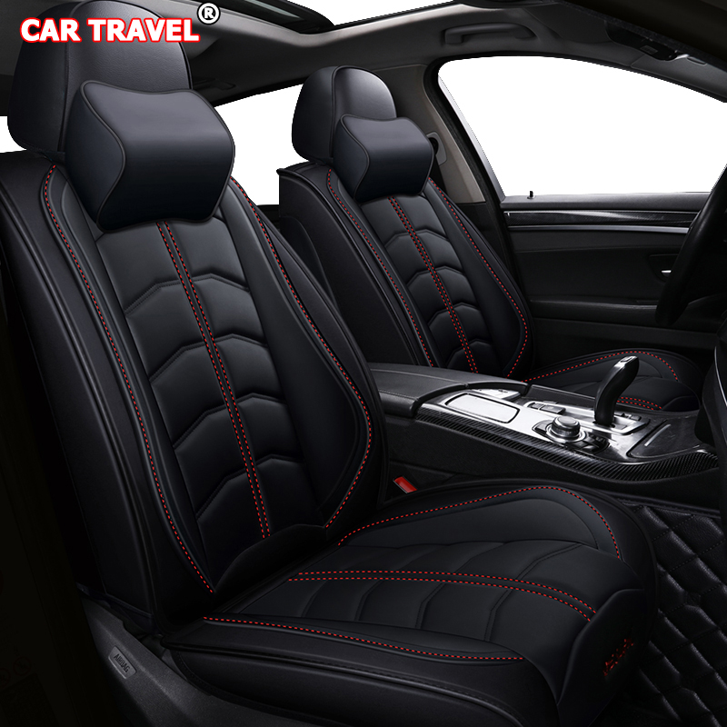 Front Rear Luxury Leather Car Seat Cover For Ford Focus 2 3 Mk1 Mondeo Mk4 Nissan Almera N16 Volvo V50 V40 C30 S40 S60 Car Seats