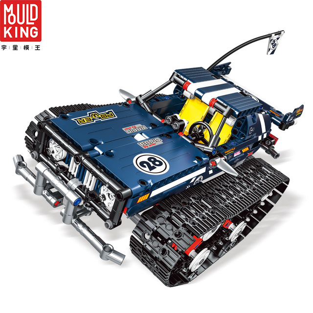 Mould king 13025 crawler car remote control rc tracked racer building blocks technic car 20011 toys lepin™ land