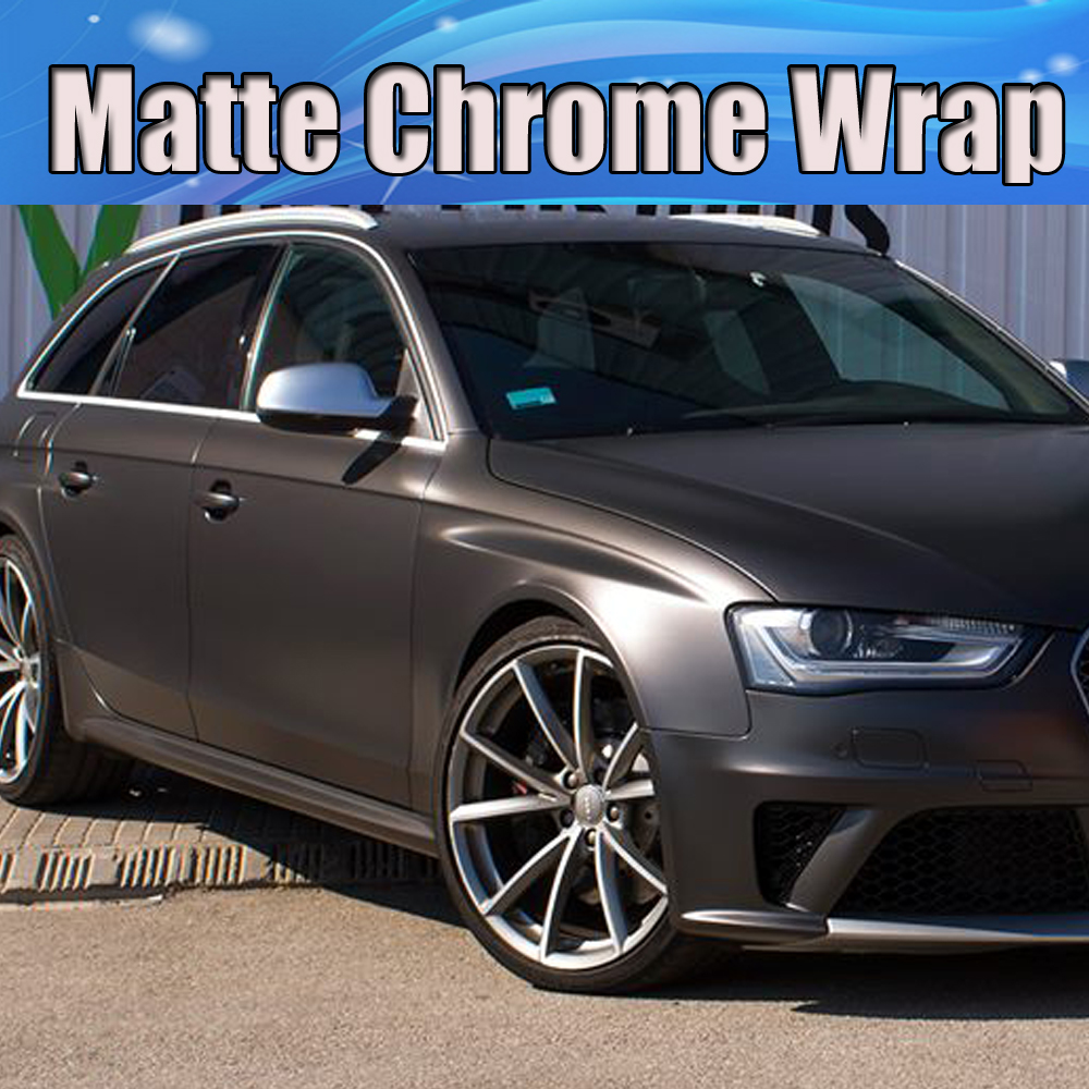 Dunkelgrau Metallic Matt Vinyl Wrap Grau Matt Film mit Air Bubble ...