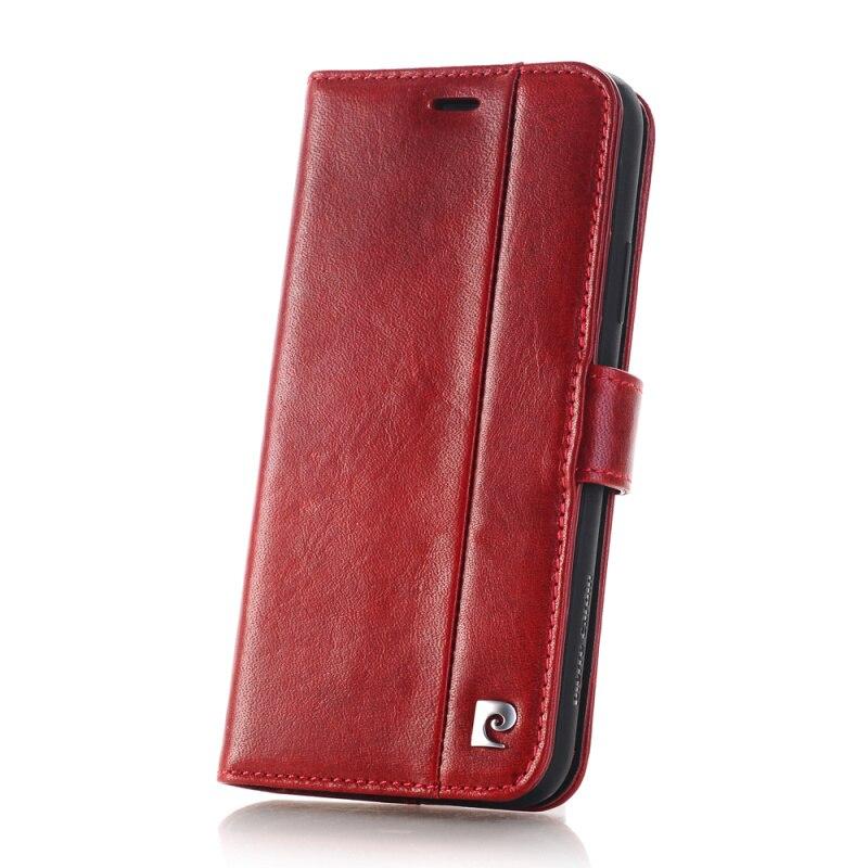 Pierre Cardin housse en cuir véritable pour étui iPhone X, étui magnétique à rabat pour livre support portefeuille porte-carte pour iPhone X Coque - 5