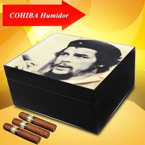 Шкаф для хранения сигары CHE Guevara в классическом стиле, увлажнитель с гигрометром