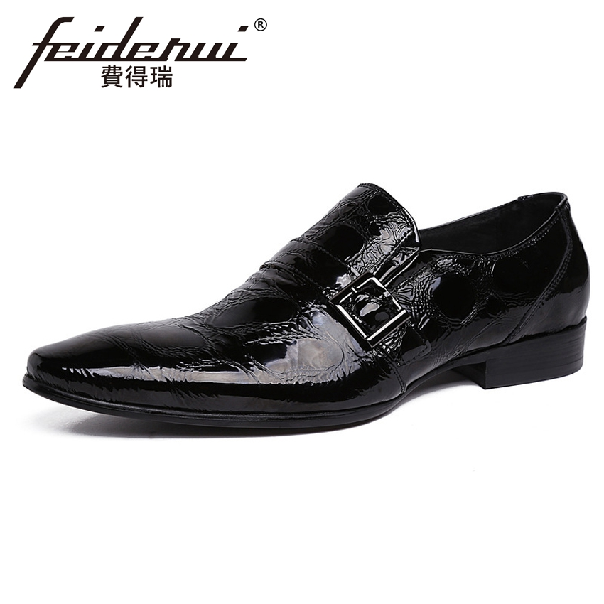 Luxury Italian Patent Leather Mens Wedding Loafers Pointed Toe Slip on Handmade Man Height Increasing Casual Shoes YMX239Luxury Italian Patent Leather Mens Wedding Loafers Pointed Toe Slip on Handmade Man Height Increasing Casual Shoes YMX239