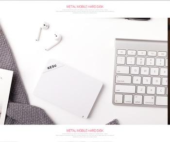 KESU. 2,5 pulgadas disco duro externo portátil USB 3,0 de 120 GB, 500 GB, 1 TB 2 TB HDD almacenamiento para Mac de escritorio PC portátil Xbox uno Xbox 3