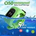 Q50 Водонепроницаемый Smart Watch Дети Безопасный Здоровья Смарт-Наручные Часы GPS Локатор Трекер SOS Браслет для Android iOS