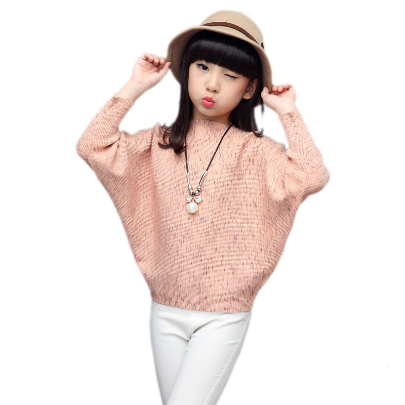 baby girls sweater 2018 new spring/autumn children knitted sweater solid long sleeve girls cardigan pullover girls Bat sweater hot sale kids sweater boys sweater children autumn winter solid cotton long sleeve girls pullover o neck 50w0020