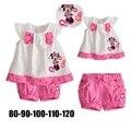 Verano 2016 Conjuntos Minnie Camiseta Pantalones Cortos de los Bebés Que Arropan Roupas Infantil Meninas Kids Ropa de la Muchacha Del Niño Ropa