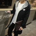 Jacket Men Casual Long hooded Coats Fur Collar Slim Cotton jackets Thickening Windbreak Warm Black Trench Coat Plus Size