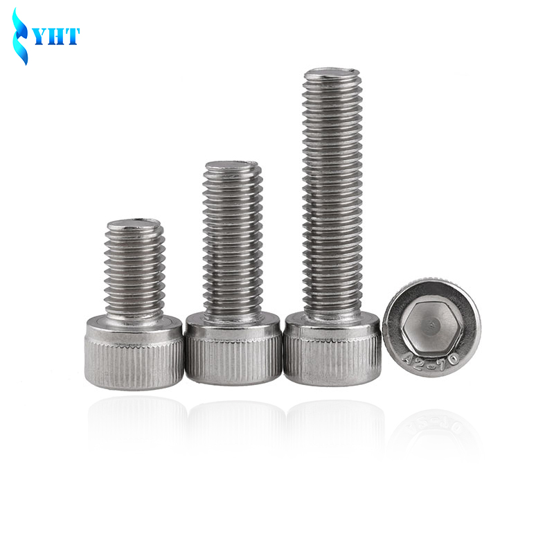 купить 50pcs or 100pcs DIN912 M3 M4 M5 M6 M8 Metric Thread 304 Stainless Steel Hex Socket Head Cap Screw Bolts 4-50 mm недорого