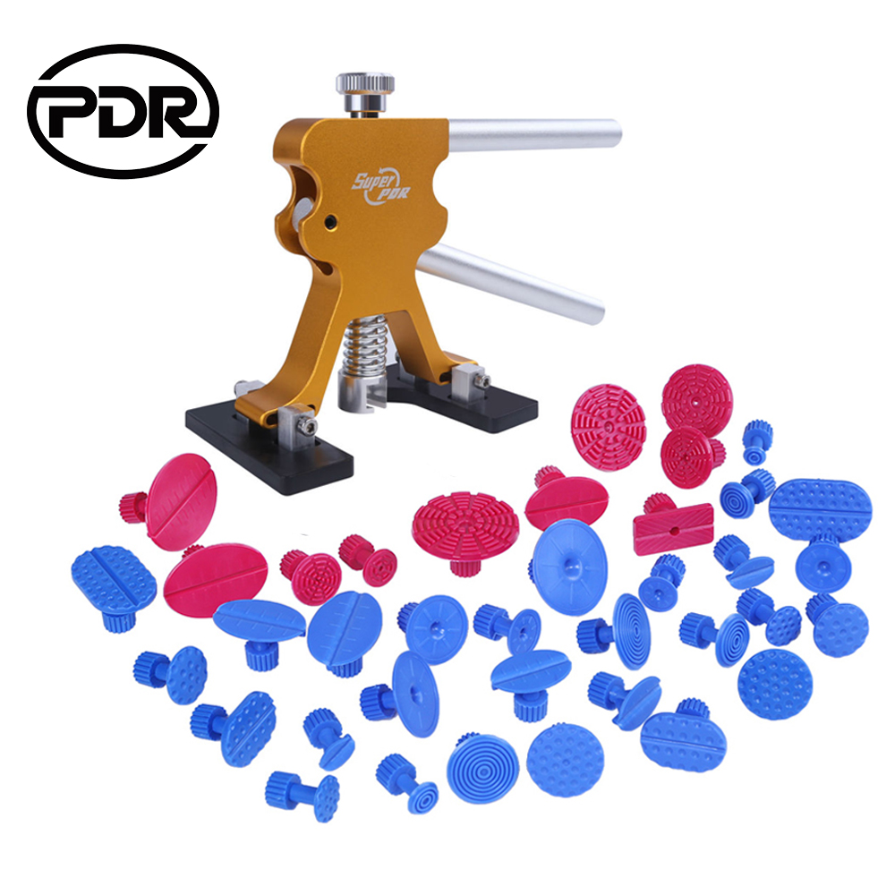 PDR Hand Tools Set Golden Puller Lifter Automobiles Repair Tools Paintless Dent Removal Suctions Cups For Dents New Update