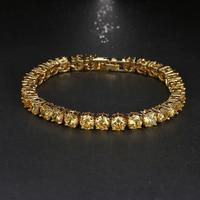 Emmaya Luxus Runde Nette Mode Armband Romantische Überzogene Gelb AAA Zirkonia Braut Hochzeit Schmuck