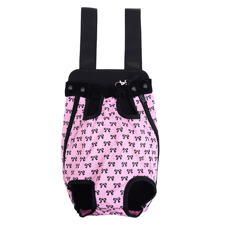 Cute Small Dog Backpack Carrier with Bowknot Pattern 13