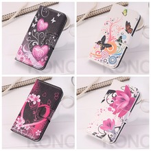 Fashion Flower Leather Wallet Cases For Samsung Galaxy S3 SIII S 3 GT-i9300 Neo Duos i9301 Flip Cover Case Card Holder Holster