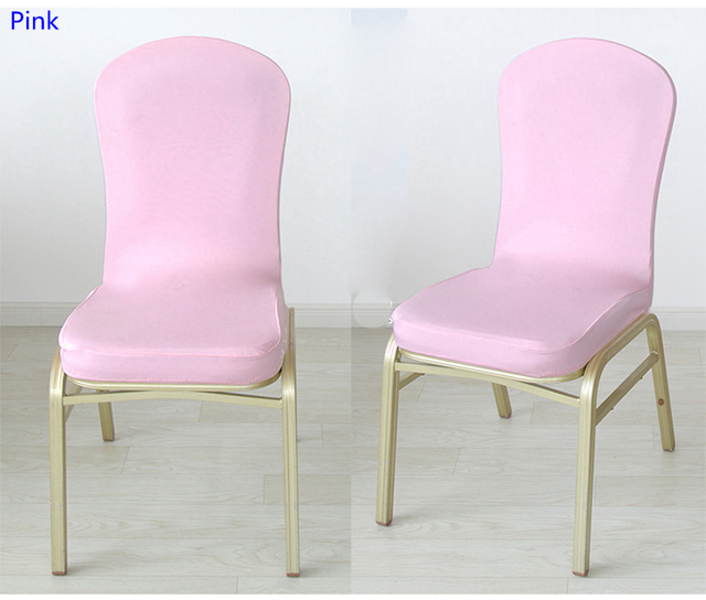 chair covers pink extra large camping chairs colour spandex half for wedding decoration lycra stretch party cover sale events show