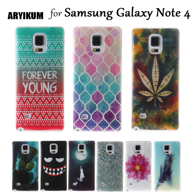 ARYIKUM Note 4 Case For Samsung Galaxy Note 4 N910 N910f SM-N910f Note4 Soft TPU Silicone Case Covers For Samsung Note 4 Coque