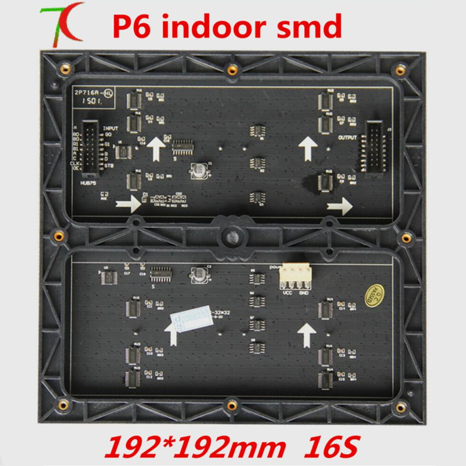 P6  Indoor SMD 16S Full Color Module For Install Led Screen,192*192mm