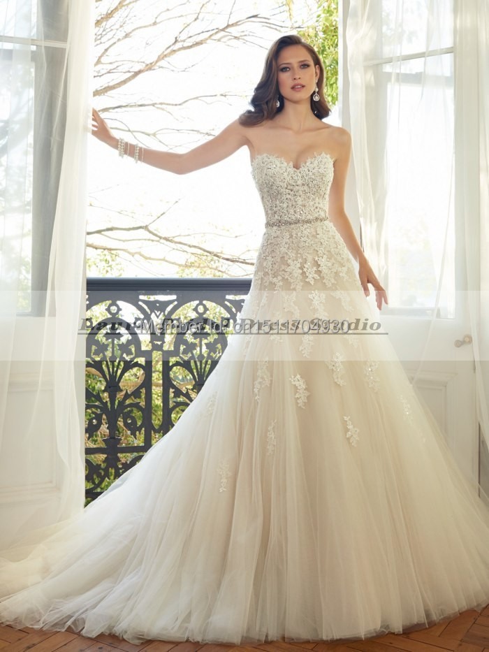 Vestido de noiva 2015 sexy a line vintage lace wedding for Country style lace wedding dress