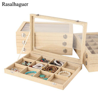 Hot Natural Linen Jewelry Box for Rings Earrings Bracelets Necklaces or other Ornaments Storage Jewellery Organizer Packaging