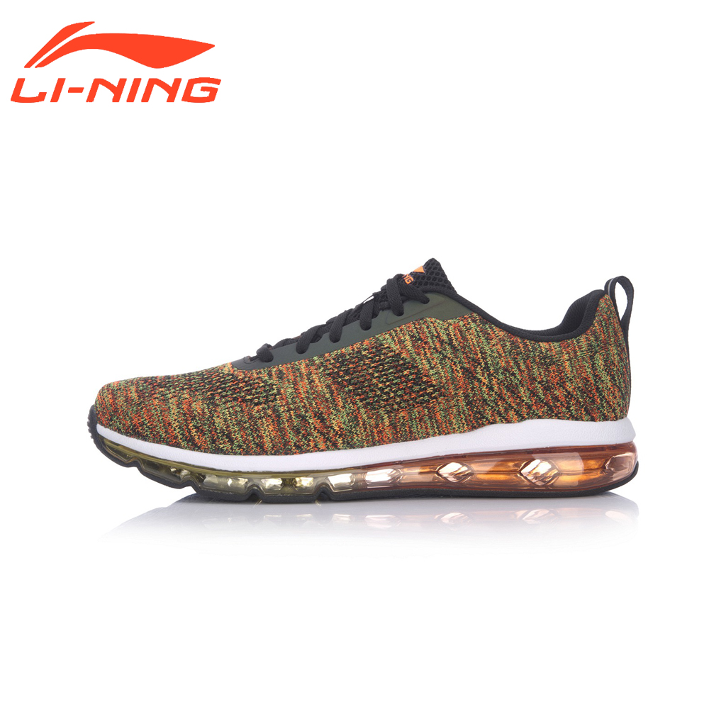 Li-Ning Men's Airbag Wailking Shoes Cushion Knitting Sneakers LiNing Heritage Sports Shoes AGCM097 original li ning men professional basketball shoes