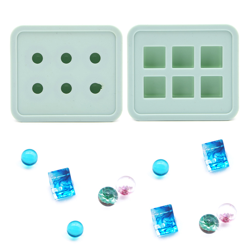 Silicone DIY Mold Making Handmade Jewelry Pendant Resin Casting Ball Cube Mould Craft Tool