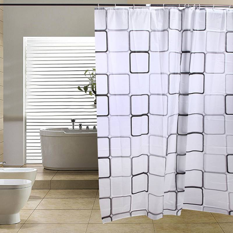 180X180cm Shower Curtain Waterproof PEVA Toilet Bathroom Curtain Polyester Fabric Bath Shower Curtain With 12 Hooks