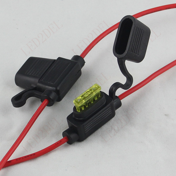 Medium Standard 10A 15A 20A ATC ATO Fuse Box Holder Socket waterproof with Cable For Auto socket mk picture more detailed picture about medium standard Waterproof Motorcycle Fuse Block at gsmx.co