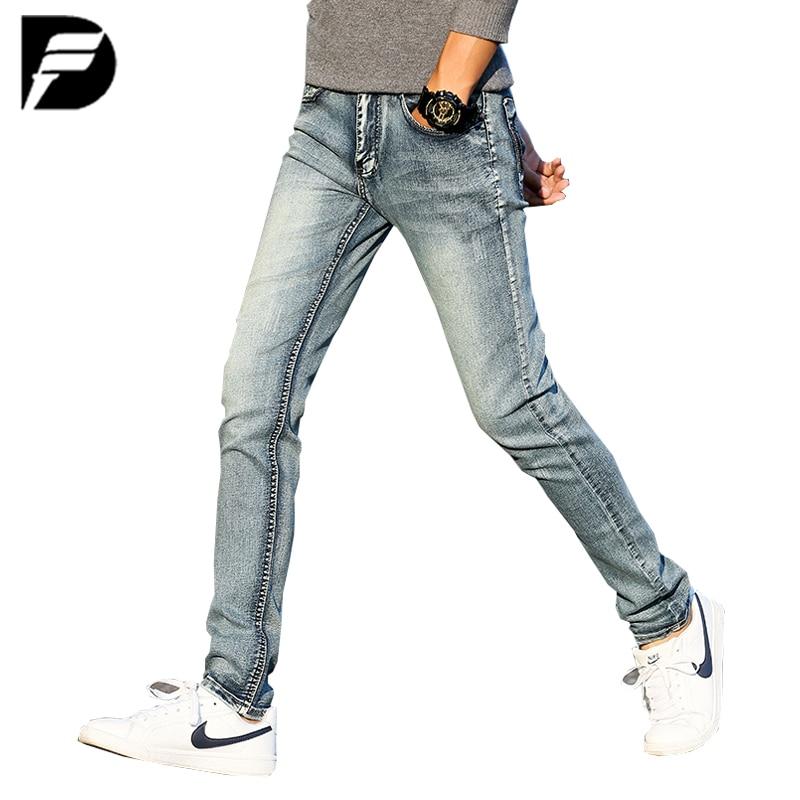New Brand Men's Straight Jeans Fashion Blue Skinny Jeans Men Cotton Elastic Breathable Casual Denim Pants For Men Slim Jeans Men new men s autumn elastic black brand jeans casual fashion straight cassical denim pants men slim male jeans meth pant for man