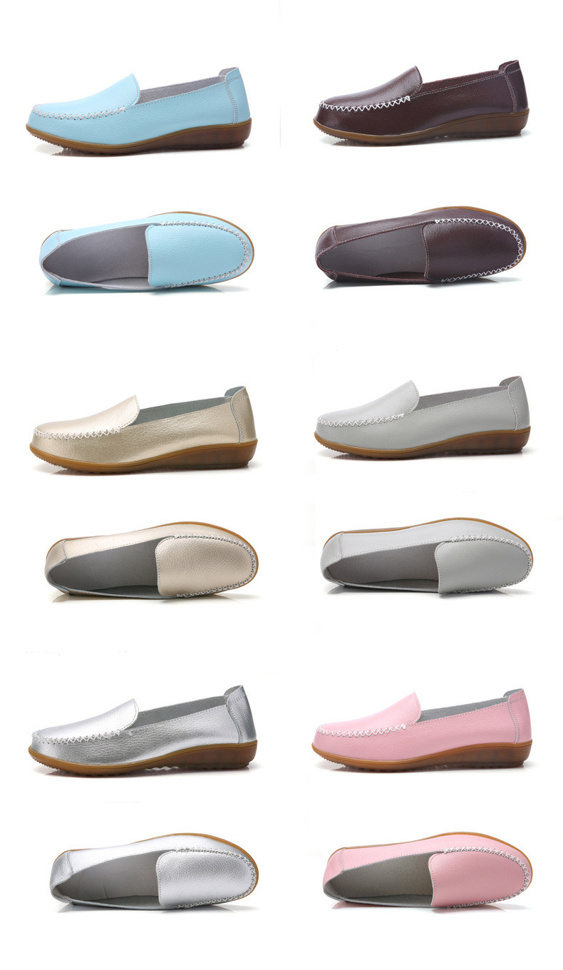 XY 518-2019 Genuine Leather Women's Shoes Soft Woman Loafers-18
