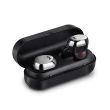 M9 Mini Trådlös Stereo Bluetooth Hörlurar Sport Vattentät och Sätesäker Trådlös Bluetooth Hörlurar Laddningsbox med Mic