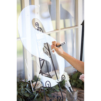 Acrylic Wedding Signature Guest Books CLEAR Letter Sign 26 Letter Birthday Party Wedding Sign no stand