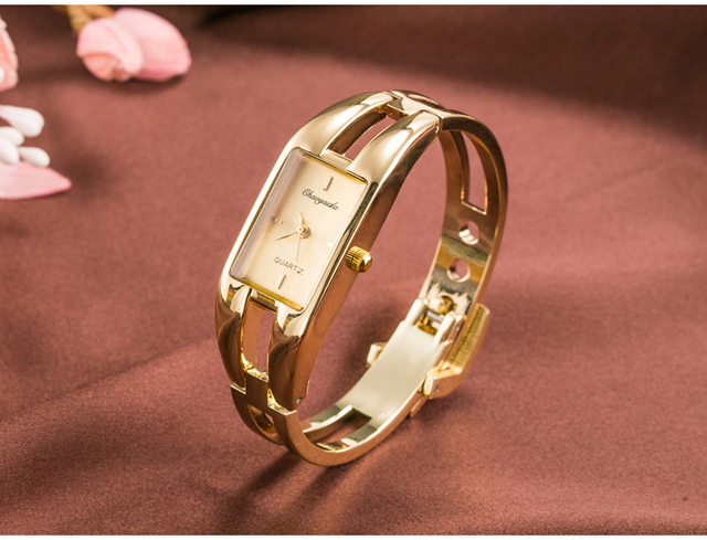 2016 Fashion brand women fashion luxury ladies gold stainless steel watch women