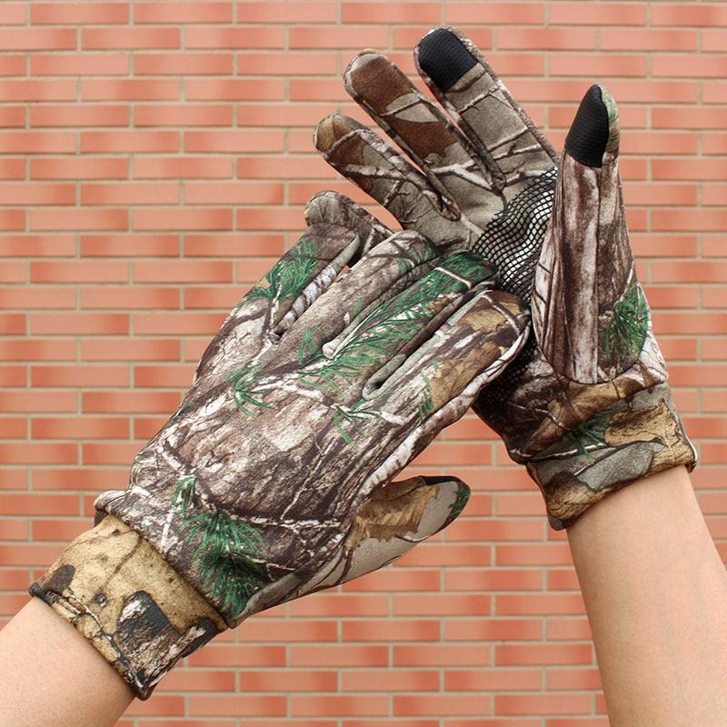 Men&Women Comouflage Full Gloves Wear-resisting Anti-slip Touch Screen Gloves Hunting Climbing Riding Skiing Gloves