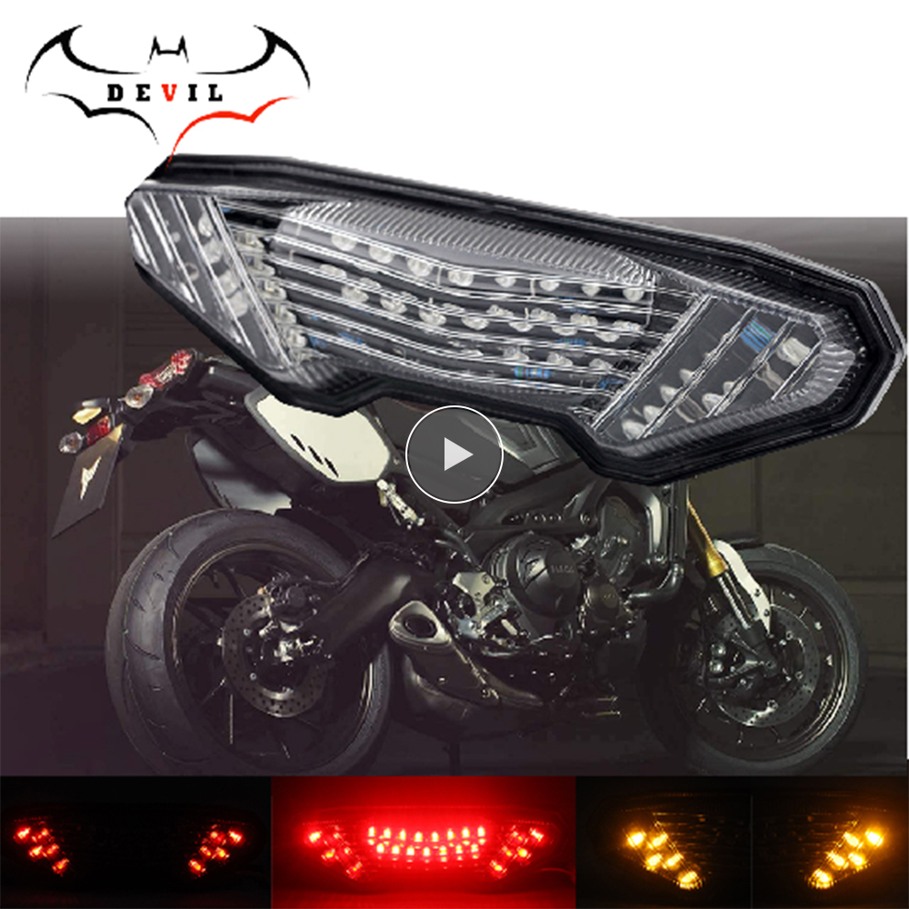 LED Tail Light Turn Signal For YAMAHA MT-09 FZ-09 14-16, FJ-09 MT09 Tracer 900/GT MT10 FZ10 15-19 Motorcycle Light Accessories