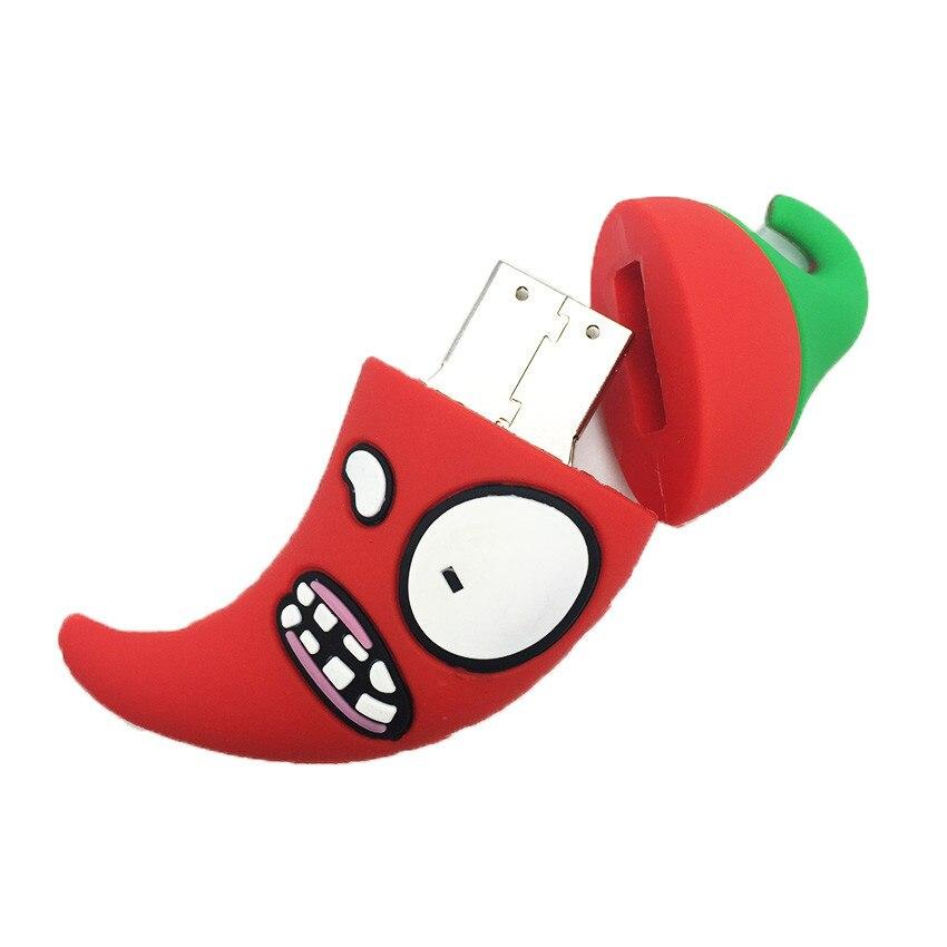 Image 4 - Mini Plastic Cartoon Chilli USB Flash Drive Hi Speed USB 2.0 4GB 8GB pen drive 16GB 32GB 64GB Laptop Flash Stick Free Shipping-in USB Flash Drives from Computer & Office