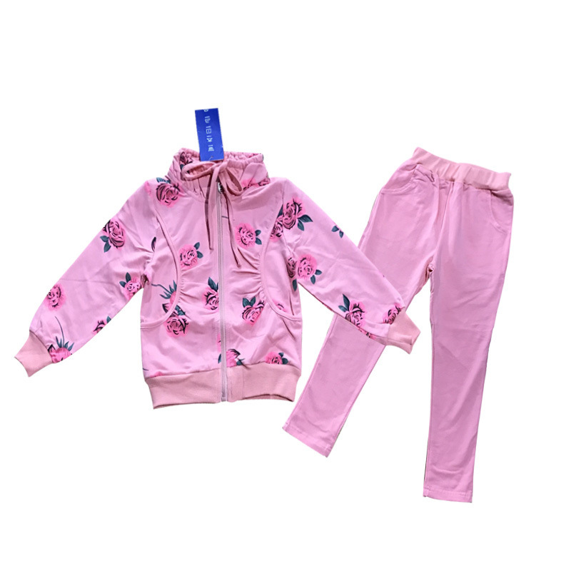 Sports Suit For Girls 4 5 6 7 8 9 10 11 12 13 Years Clothing Set 2018 Long Sleeve Flower Print Kids Clothes Set Teenagers Suit sport suit for boy 5 6 7 8 9 10 11 12 13 14 15 years teenagers kids clothing set long sleeve print shirt pant 2pcs clothes
