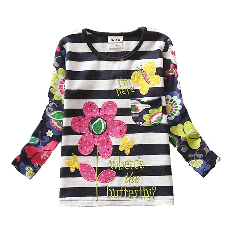 VIKITA T-krekli meitenēm Garām piedurknēm Roupa Infantil Princess - Bērnu apģērbi - Foto 6
