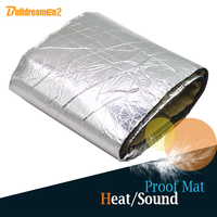 Buildreamen2 100CM X 100CM Aluminum Foil   Auto   Engine Roof Trunk Heat Soundproof Insulation Absorption Cotton Deadener Mat