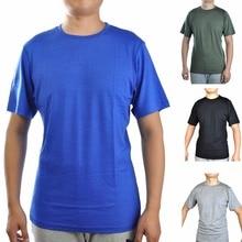 Camisetas 100% de lana Merino para hombre, ropa básica de manga corta transpirable, ligera, para atletismo, para verano