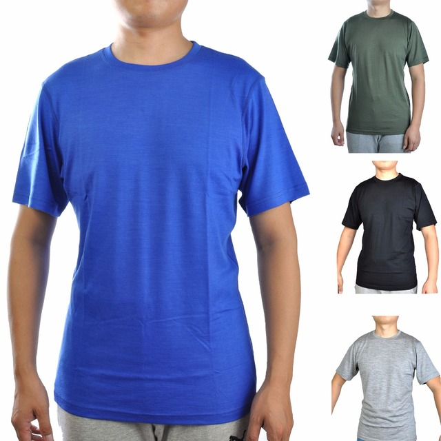 2fc76b91f826 Men s 100% Merino Wool Out door Crew T Shirts Lightweight Athletics Summer  Breathable Wicking Cool Short Sleeve Base Tee