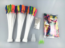 Water Balloons Refill Kit -3 sets Straws+500 Balloons+500 Rubber Bands+3 Tool