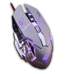 Przewodowy LED światło 4000DPI optyczna Usb ergonomiczna Pro Gamer pod mysz do gier metalowa płyta 18Jul18 F