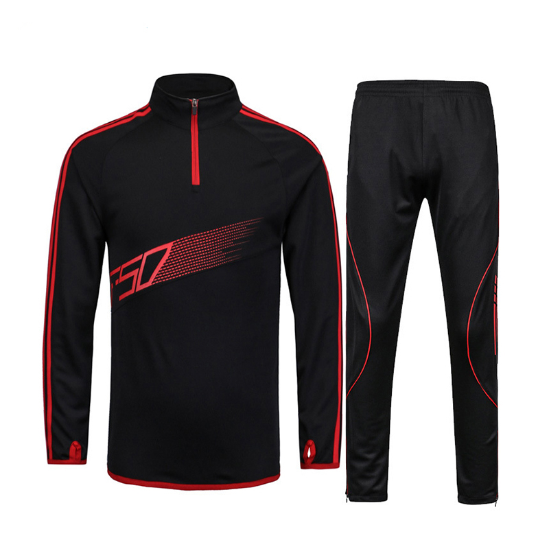Hot Sale 2018 New Autumn And Winter Football Training Jerseys Child Youth Adult Outdoor Sportswear